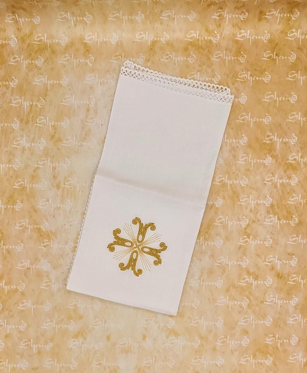 corporale croce ricamata oro