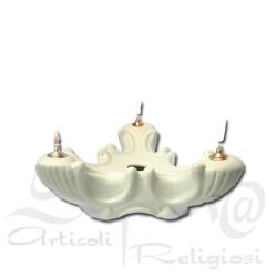 lampada in porcellana triade avorio