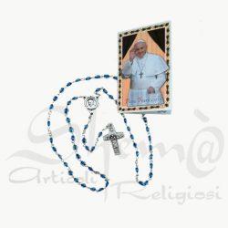rosario cristallo croce papa francesco