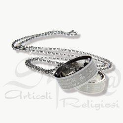 collana anello abbraccio in acciaio