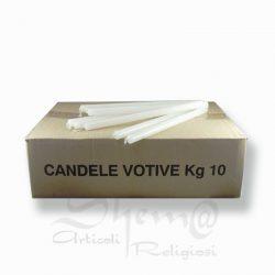 candele votive 10 kg cera bianca