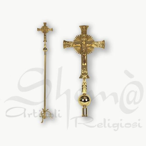 Croce astile oro