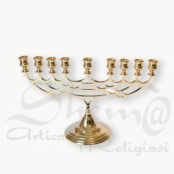candelabro ebraico ottone