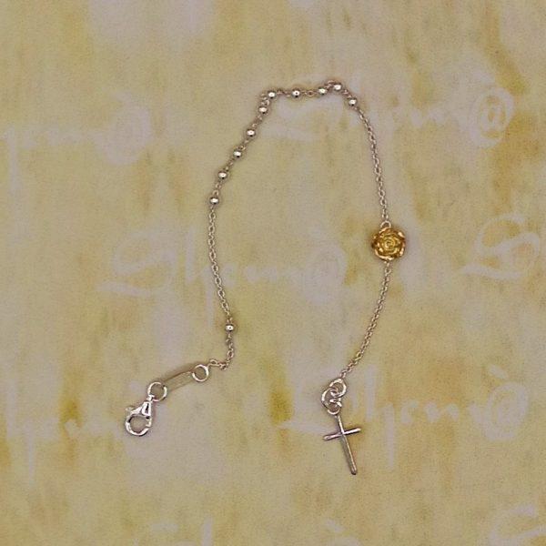 braccialetto rosario argento