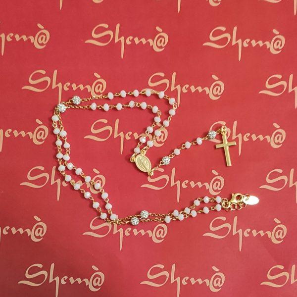 rosario in argento e oro