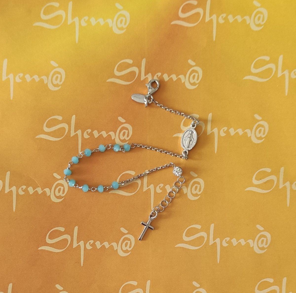 bracciale rosario argento